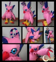 Biyomon Plushie by NsomniacArtist