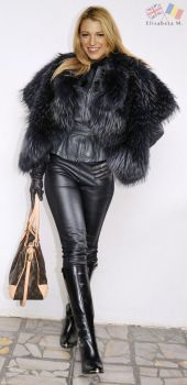 Blake Lively leather and fur fake by ElisabetaM