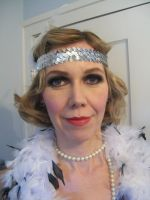 1920's Flapper makeup on a client by Sweetie-J