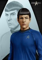 First Officer Lt. Spock by punisher357