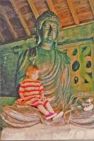 Me on Buddha's lap by divinerogue1991