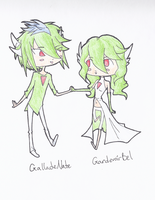 GalladeNate and GardevoirBel by Kaeghlighn