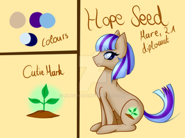 Hope Seed - Pony OC Ref. by MLPsUnique