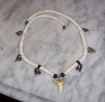 Shark teeth necklace by surfshmo24