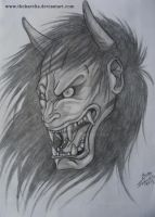 Hannya Mask by TheKarelia