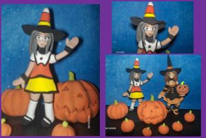 Candy Corn Witch by axelgnt