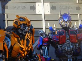 Optimus Prime and Bumblebee by Worldboy1