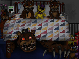 Monster under my bed five nights at freddy s 4 by ramon doodle
