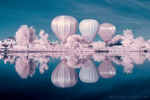 Infrared Hot Air Balloons by La-Vita-a-Bella