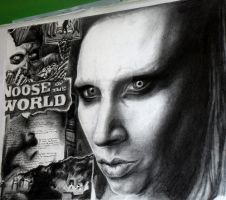 Manson Collage Drawing by FinstereFrau