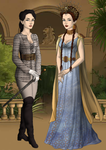 Older Sansa and Arya by SingerofIceandFire