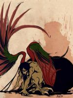 Birth of the Eagle Man by mickeythewicked