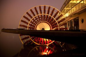 Delta King Paddlewheel by Cyril-Helnwein