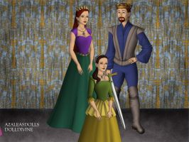 King Triton, Queen Athena, and Princess Adella. by Katharine-Elizabeth