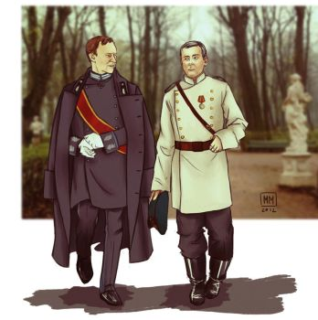 Mystrade: AU, Russia, the end of the 19th century by MadMoro