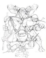 TMNT sketch by Finfrock