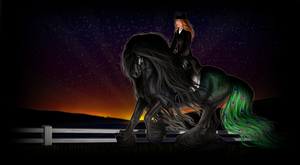 Kyfarah - Dressage at Dusk - FOYS June by Vizseryn