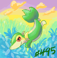 Snivy by MizterSiah