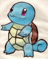 Pokemon: Squirtle by LizDraws