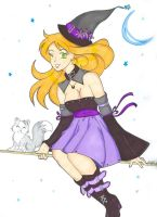 Purple Witch Commission by Chibiusa14