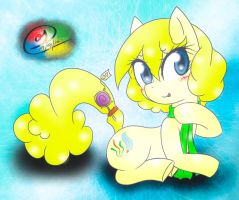 Chidey with a lollipop! by Rockarboom