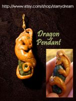 Dragon Pendant with Jasper by LeeAnneKortus