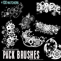Recopilacion: Pack brushes / pinceles mix by MiinJae