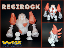 Regirock Papercraft by Skeleman