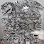 GODZILLA: ~60th Anniversary~ [Tribute] by AVGK04