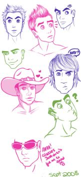 Male Sketch Dump by gucci84