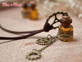 Steampunk Poison Necklace by MieMoe