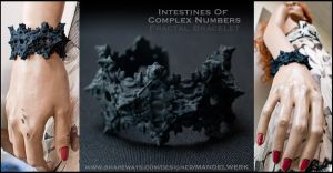 3Dprinted Fractal Bracelet - Intestines of C.N. by MANDELWERK
