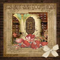Secret Garden Document Folder by TheAngeldove