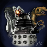 Daleks and Dinos and Angels, Oh My! by AnnaNM