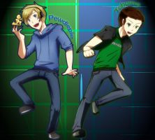 Tobuscus and Pewdiepie by ChibiGuardianAngel