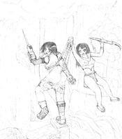 Yuffie vs. Jungle Queen by cartoonwedgielover