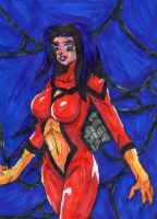 Spider-Woman With Webs by ChahlesXavier