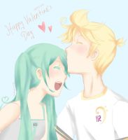 Happy VaLenMikutine's Day! by wolfspiritsd