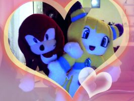 Knuckles and Lilly plushies by LillyTheSeedrian