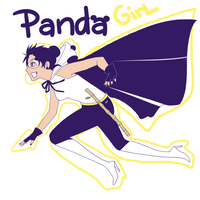 Tenten Super Hero Panda Girl by BayneezOne