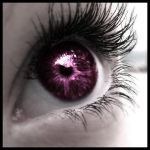 purple eye. by mikidenial