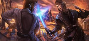 Recreation of Mustafar Duel by sensevessel