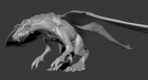 WIP Dragon Mesh by FoxHound1984