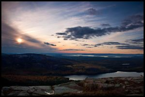 Cadillac Mountain Sunset by grimleyfiendish