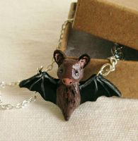 Bat Necklace by FlowerLandBySaraMax