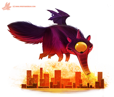 Daily Painting #967. Purple People Eater (OG) by Cryptid-Creations