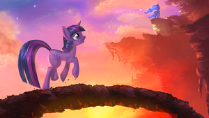 Luna's Curtain Call_WALLPAPER by vest
