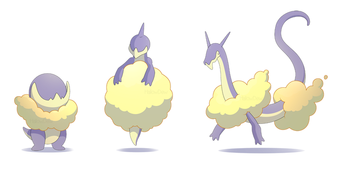 Cloud Dragon Pokemon by HallowDew