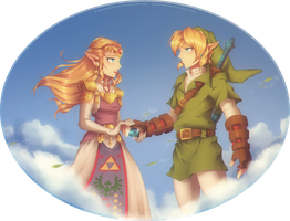 Collab with Purrdemonium- Ocarina of Time: Goodbye by Zelbunnii