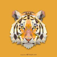 Triangle Tiger (Vector) by HundredMelanie